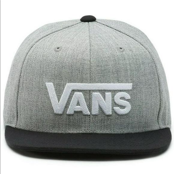 3e3267a84be Boy s Vans Heather Grey-Black Drop V II Snapback